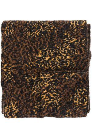 Saint Laurent Men Scarves - Leopard-Print Scarf