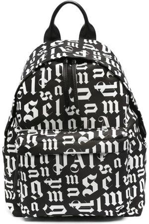 Palm Angels Broken Monogram Backpack Black White