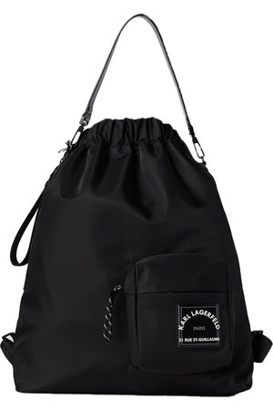 Karl Lagerfeld Nylon Draw Cord Backpack