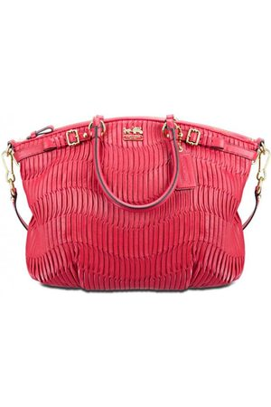 Luxe Designers Coach Madison Gathered Leather Tote / Satchel Bag