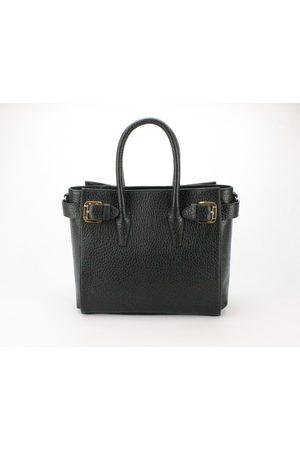Luxe Designers Flo & Sue Drusilla Black Cervino Leather Tote Bag