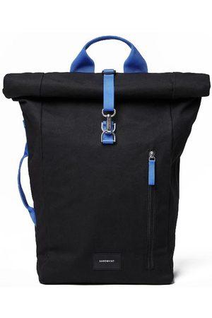 Sandqvist Dante Rolltop Backpack Vegan Black / Blue