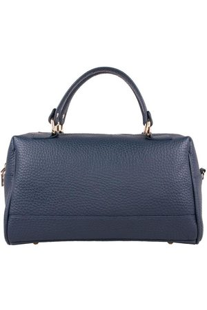 Luxe Designers Flo & Sue Cassia Navy Leather Bauletto Bag