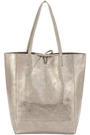 Sostter Women Purses - Bronze Metallic Leather Tote Shopper Bag