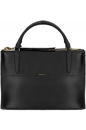 Luxe Designers Women Purses - Coach Borough Tote Bag in Black Leather