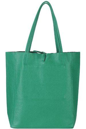 Sostter Aqua Pebbled Leather Tote Shopper Bag