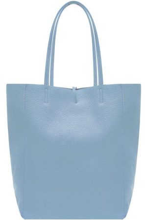Sostter Women Purses - Soft Blue Pebbled Leather Tote Shopper Bag
