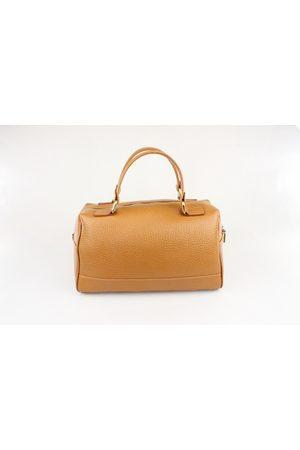 Luxe Designers Flo & Sue Cassia Tan Leather Bauletto Bag