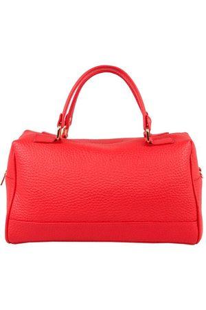 Luxe Designers Women Purses - Flo & Sue Cassia Red Leather Bauletto Bag