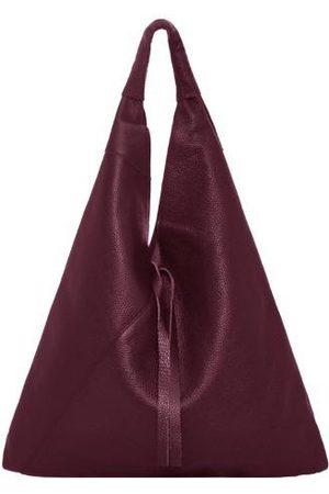 Sostter Women Purses - Maroon Pebbled Boho Leather Bag