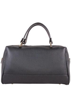 Luxe Designers Flo & Sue Cassia Black Leather Bauletto Bag