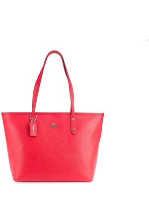 Luxe Designers Women Purses - Coach Red Saffiano Tote Bag