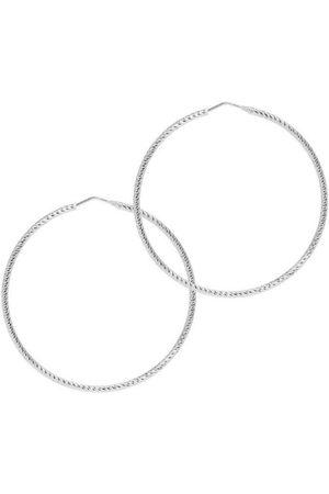 The Hoop Station Women Earrings - La Roma Diamond-Cut Hoops
