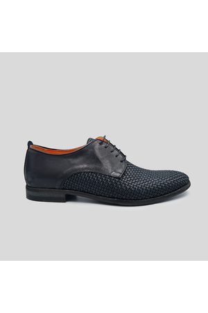 Luca Rossi Men Formal Shoes - Woven Leather Brogue Oxfords Shoes