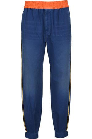 Gucci Military cotton drill trousers with buckles