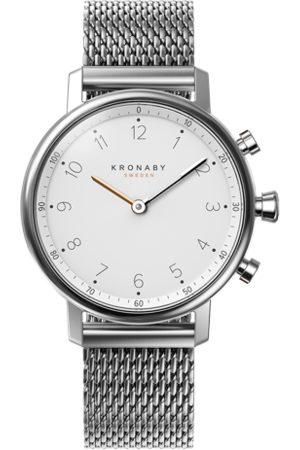 Kronaby Men Smart Watches - Nord 38mm Hybrid Smartwatch - White, Steel
