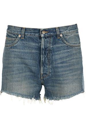 Gucci Men Shorts - Frayed denim shorts