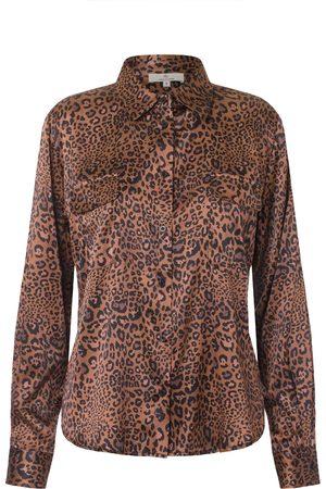 CHARLOTTE Silk Shirt Leopard