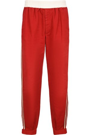 Gucci Men Pants - Military cotton drill trousers with buckles
