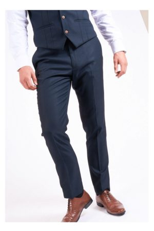 """Marc Darcy Max Navy Trousers Mens NAVY Waist 28"""""""