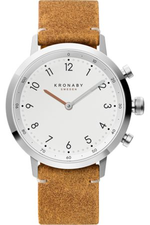 Kronaby Nord 41mm Hybrid Smartwatch - White, Brown Leather