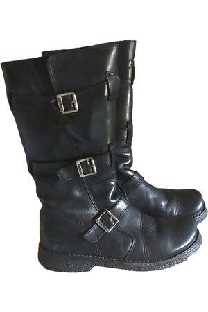 Kickers Leather biker boots