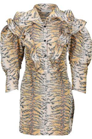 Philosophy Taffeta tiger mini dress