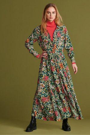 POM Amsterdam Women Printed Dresses - Flower Love Dress in Ivory
