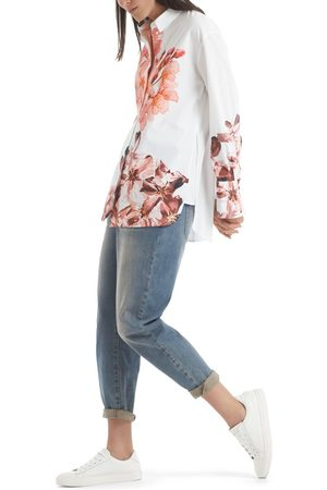 Marc Cain OVERSIZED SHIRT WITH FLORAL PRINT