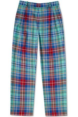 Charles Jeffrey Men Skinny Pants - Slim Tartan Checked Trousers