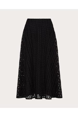 VALENTINO Women Skirts - Optical Cordonetto Skirt Women Cotton 95% 36