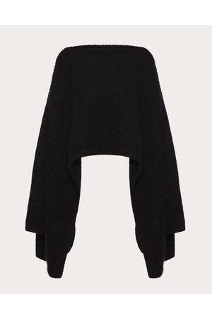 VALENTINO Women Ponchos & Capes - Mohair Wool Polyamide Poncho Women 67% Mohair 5% Wool L