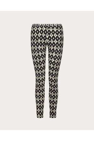 VALENTINO Women Sports Shorts - Printed Jersey Leggings Women Ivory/ Elastane 29% L