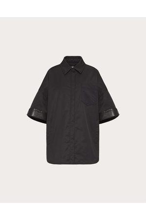 VALENTINO Women Coats - Nylon And Leather Pea Coat Women Polyester 100% 38