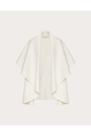VALENTINO Women Gilets - Compact Drap Vest Women Ivory Cashmere 10%, Virgin Wool 90% 36