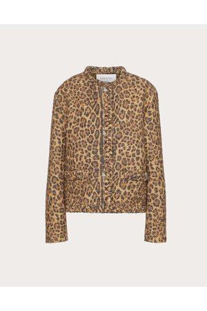 VALENTINO Women Jackets - Animalier Tweed Jacket Women Animal Print 72% Virgin Wool 23% Cotton 5% Silk 36