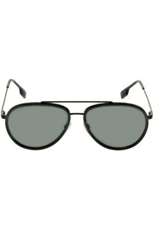Burberry Double Bridge Pilot Metal Sunglasses