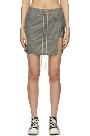 Rick Owens Women Mini Skirts - Grey Champion Edition Toga Miniskirt