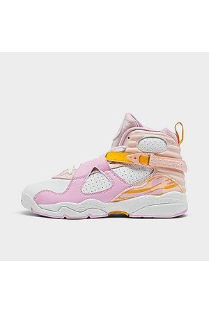 Nike Girls High Heels - Jordan Girls' Big Kids' Air Retro 8 Basketball Shoes in / / Pearl Size 4.0 Leather