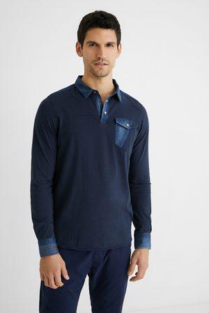 Desigual Men Polo Shirts - Cotton and denim polo shirt