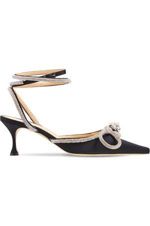 Mach & Mach Women High Heels - 65mm Double Bow Silk Satin Pumps