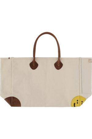 KAPITAL Men Rucksacks - No. 4 canvas rain smile milk bag ECRU U