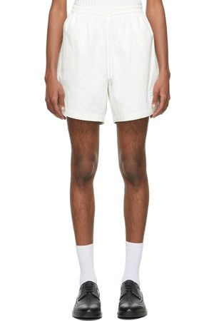 Thom Browne Men Shorts - Off-White Twill Rugby Shorts