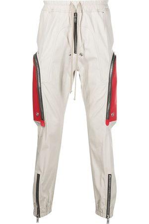 Rick Owens Men Cargo Pants - Bauhaus Cargo two-tone trousers - Grey