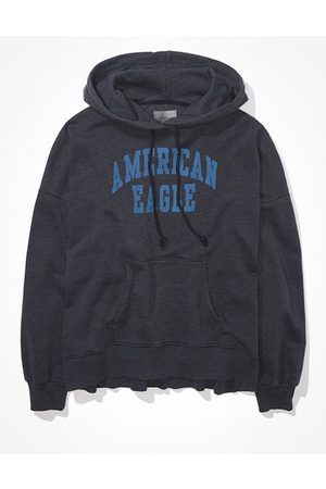 American Eagle Outfitters Fleece Graphic High-Low Hoodie Women's XS