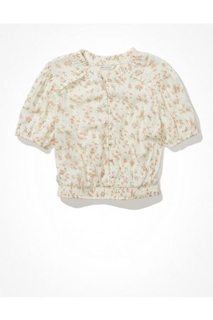 American Eagle Outfitters Women Blouses - Cropped Smocked Blouse Women's XXS