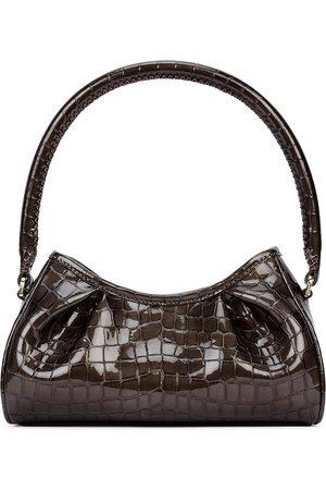 Elleme Women Purses - Dimple small dark grey crocodile-effect bag