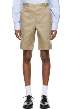 Thom Browne Men Shorts - Beige Twill Unconstructed Chino Shorts