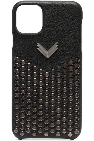 Manokhi Phones Cases - Studded leather iPhone 11 Pro Max case