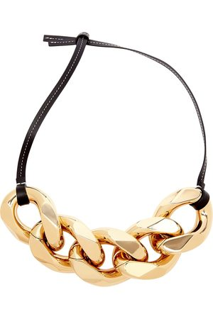 J.W.Anderson Large chain-embellished leather strap